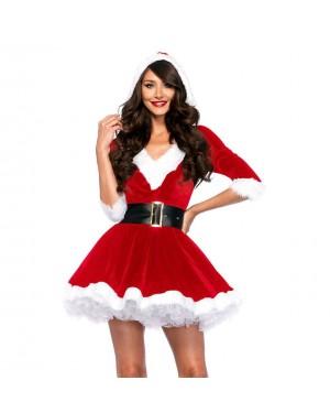 Božični kostum Santa Baby Crystal, rdeč