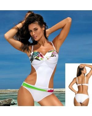 Jednodijelni kupaći kostim, monokini Marko Mandy Bianco, bijeli