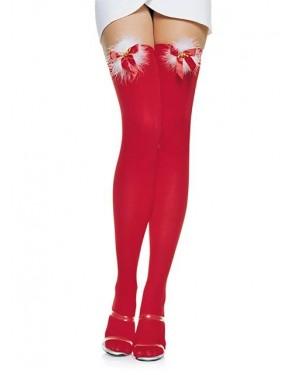 Nogavice božične, pokrivne rdeče